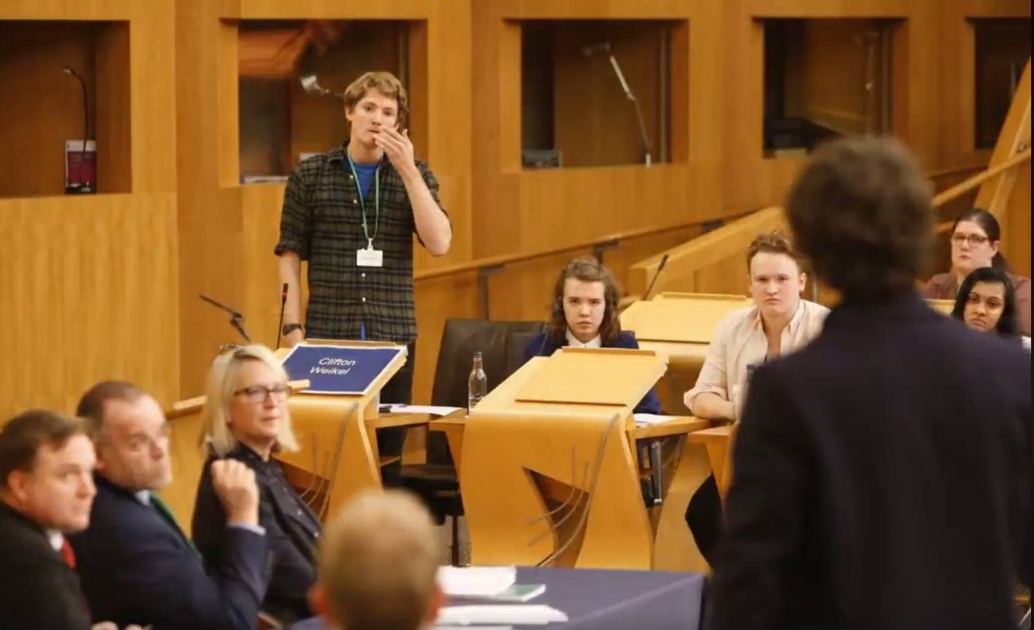 Henry in the finals of the St. Andrew's Day Debate in Scottish Parliament